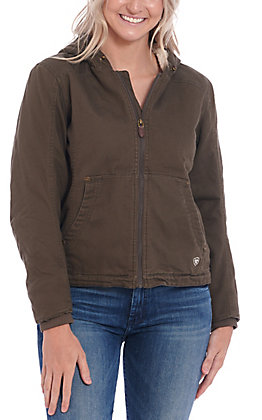 Ariat Women's Outlaw Bark Brown Sherpa Lined Hooded Jacket
