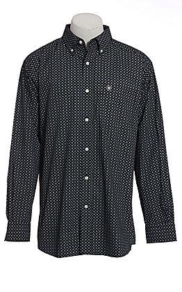 Ariat Men's Black Geo Print Long Sleeve Western Shirt
