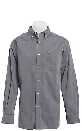 Ariat Men's Grey Long Sleeve Western Shirt
