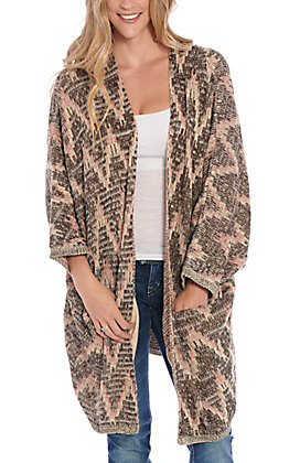 Ariat Women's Brown & Cream Sweater Cardigan
