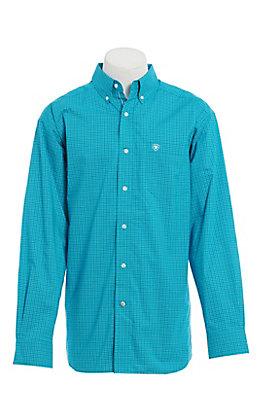 Ariat Men's Blue Medallion Print Long Sleeve Western Shirt