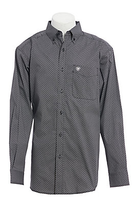 Ariat Men's Black Geo Print Long Sleeve Western Shirt
