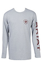 Ariat Men's Grey Branded L/S Graphic T-Shirt