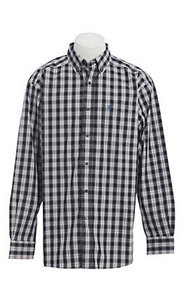 Ariat Men's Black Plaid Long Sleeve Western Shirt