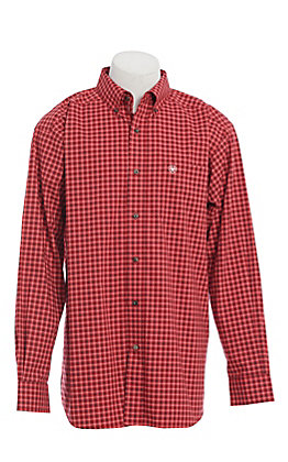 Ariat Men's Red Plaid Long Sleeve Western Shirt