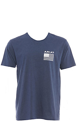 Ariat Men's Navy Heather Freedom Short Sleeve T-Shirt
