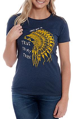 Ariat Women's Navy Heather True Chief Short Sleeve T-Shirt
