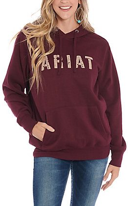 Ariat REAL Women's Burgundy Logo Hooded Sweatshirt