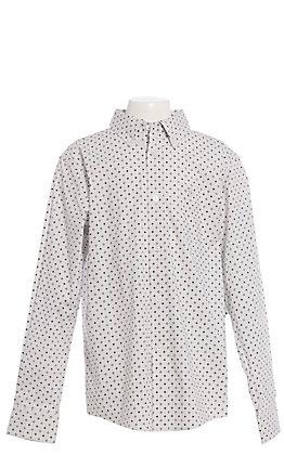 Ariat Dryden Boys' White Geometric Print Long Sleeve Western Shirt