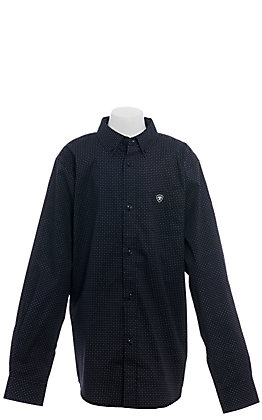 Ariat Vancaster Boys' Black Geometric Print Long Sleeve Western Shirt