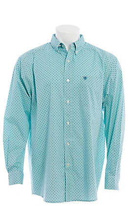 Ariat Cavender's Exclusive Men's Turquoise Medallion Print Long Sleeve Western Shirt