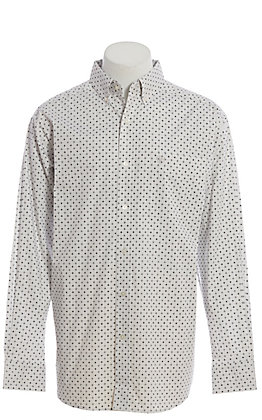 Ariat Cavender's Exclusive Men's White Geo Print Long Sleeve Western Shirt
