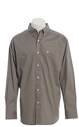 Ariat Cavender's Exclusive Men's Charcoal Medallion Print Long Sleeve Western Shirt
