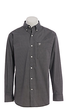 Ariat Cavender's Exclusive Men's Black Medallion Print Long Sleeve Western Shirt