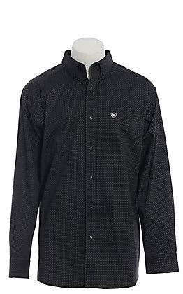 Ariat Cavender's Exclusive Men's Black Geo Print Long Sleeve Western Shirt