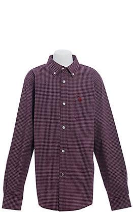 Ariat Pro Dotson Boys' Malbec Plaid Long Sleeve Western Shirt