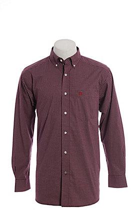 Ariat Pro Dotson Men's Malbec Plaid Cavender's Exclusive Long Sleeve Western Shirt