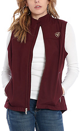 Ariat Women's Maroon Team Logo Softshell Vest - Cavender's Exclusive