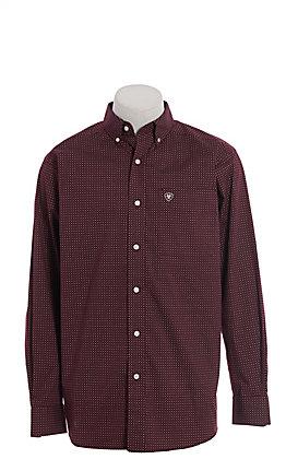 Ariat Tangeman Men's Malbec Geometric Print Cavender's Exclusive Long Sleeve Western Shirt