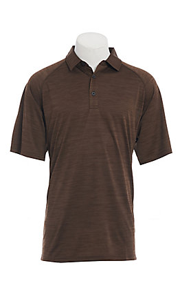 Ariat Men's Charger Dark Brown Heat Series Polo Shirt