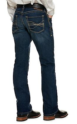 Ariat Men's M5 Wiley Dark Wash Slim Fit Stackable Straight Leg Stretch Jean