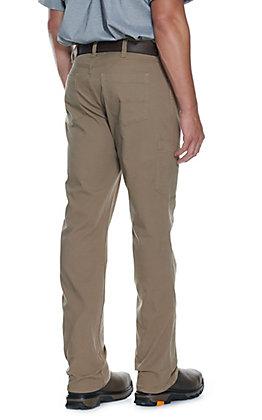 Ariat Men's Rebar M4 Khaki Low Rise DuraStretch Made Tough Stackable Straight Leg Pant