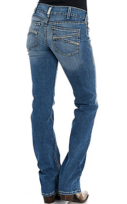 Ariat REAL Women's Presley Mid Rise Stretch Stackable Straight Leg Jeans