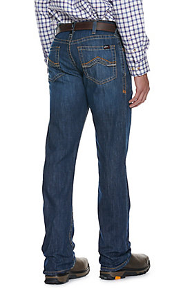 Ariat Men's M4 Duralight Jett Medium Wash Bootcut Leg Stretch FR Jeans