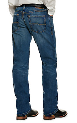 Ariat Men's M4 Medium Wash Low Rise Relaxed Fit Boot Cut Jeans