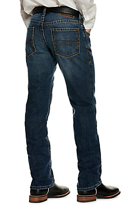 Ariat Men's M4 Bugsy Dark Wash Low Rise Stackable Straight Leg Jean