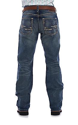 Ariat Men's M5 Medium Wash Slim Fit Boot Cut Stretch Jeans