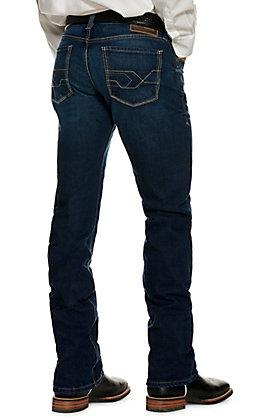 Ariat Men's M7 Rocker Montecito Dark Wash Extra Slim Fit Straight Leg Jeans