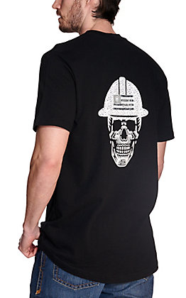 Ariat Men's Rebar Cotton Strong Black Roughneck Skull Graphic Short Sleeve Work T-Shirt