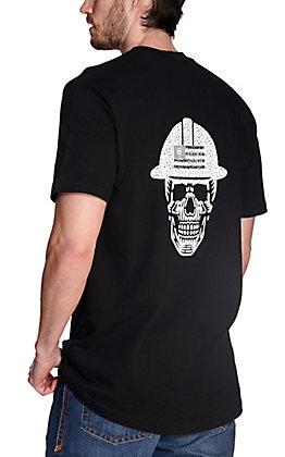 Ariat Men's Rebar Cotton Strong Black Roughneck Skull Graphic Short Sleeve Work T-Shirt