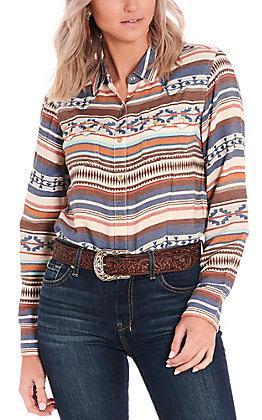 Ariat Women's REAL Blue Serape Long Sleeve Western Shirt