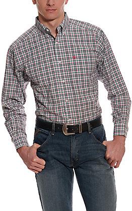 Ariat Men's Pro Series Kermit Multi Plaid Long Sleeve Western Shirt