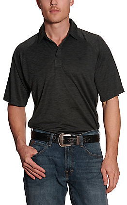 Ariat Men's Charger Charcoal Grey Heat Series Polo Shirt