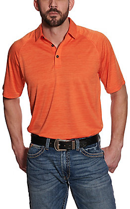 Ariat Men's Charger Orange Heat Series Polo Shirt