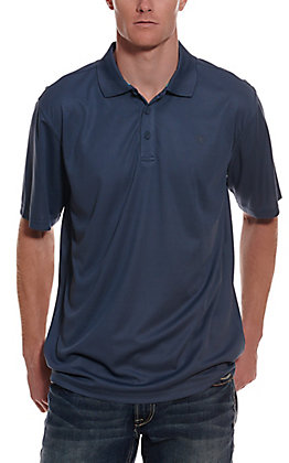 Ariat Men's TEK Blue Pine HeatSeries Short Sleeve Polo Shirt