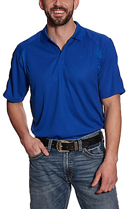 Ariat Men's AC Cousteau Blue Heat Series Polo Shirt