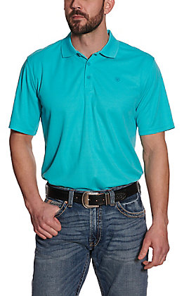 Ariat Men's AC Nautilus Turquoise Heat Series Polo Shirt