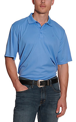 Ariat Men's TEK Polar Bear Blue Heat Series Polo Shirt