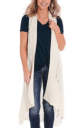Ariat Women's Reba White Sweater Knit Vest