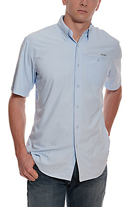 Ariat Men's VentTEK Cloud Blue HeatSeries Short Sleeve Shirt
