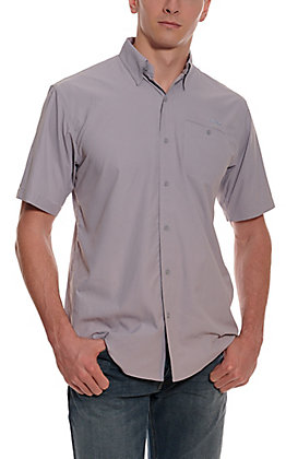 Ariat Men's VentTEK Sleet Grey HeatSeries Short Sleeve Fishing Shirt