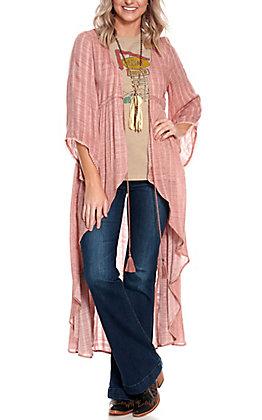 Ariat Women's Calm Rose Tie Waist Waterfall Duster Kimono