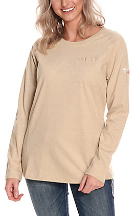 Ariat Women's Air Crew Sand FR Long Sleeve T-Shirt
