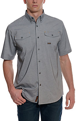 Ariat Men's Rebar Charcoal Heather Made Tough Durastretch Vent Short Sleeve Shirt