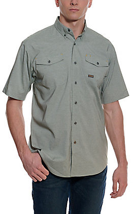 Ariat Men's Rebar Olive Heather Made Tough Durastretch Vent Short Sleeve Shirt