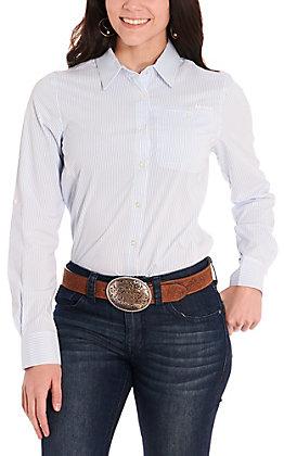 Ariat Women's VentTEK II Blue and White Stripe Long Sleeve Western Shirt
